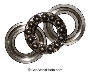 Axial ball bearing - Stainless steel axial ball bearing...