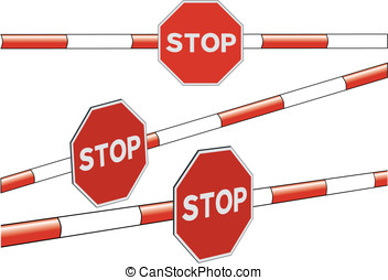 Stop barrier - Stop sign in a barrier. Vector file