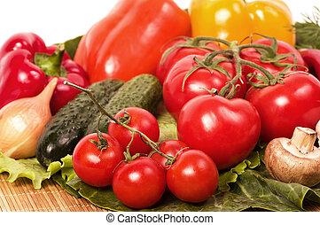 Healthy seasonal raw vegetables