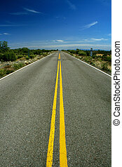 Empty straight line road