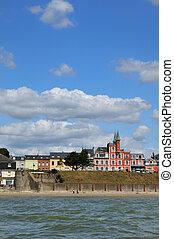 Coast Crotoy - Coastline Normandy village Crotoy