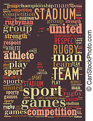 rugby info-text graphic and arrangement concept on brown...