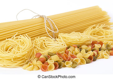 Different kinds of pasta background