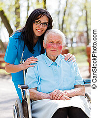 Doctor, Nurse With Elderly Patient - Beautiful doctor, nurse...