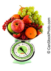 Scale with fruit for diet
