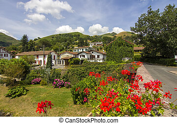 picturesque village in the South of France with many plants...