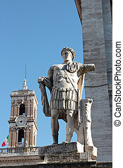 Constantine Statue - statue of Constantine the Great at...