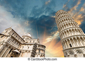 Pisa, Tuscany Wonderful wide angle view of Miracles Square
