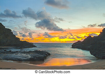 Halona Cove Sunrise 1 - Beautiful sunrise in Halona Cove,...