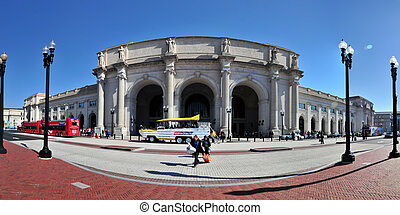 paniramic View of Union station in Washington DC -april 5,...