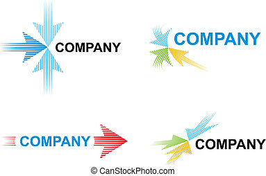 Logo templates with arrows - Logo with arrows symbolizes...