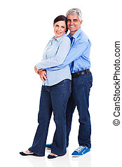 loving middle aged couple - portrait of loving middle aged...