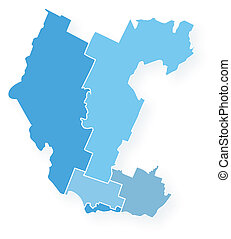 Map_Outaouais - Vector Map of the Outaouais region of...