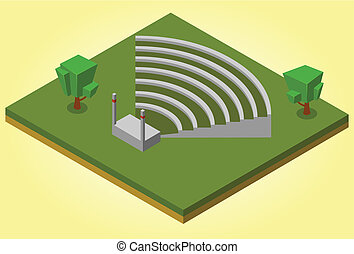 isometric amphitheater