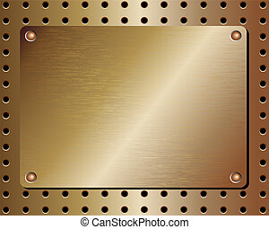 Metal realistic background - Realistic metal plate...