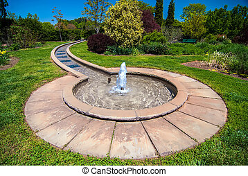 fountain in botanical garden - fountain inbotanic Garden...