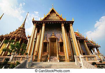 Temple Doors Wat Phra Kaeo Bangkok Thailand