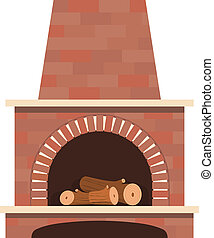house fireplace vector