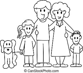 family - vector illustration of a family consisting of...