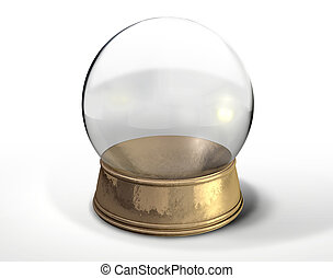 Snow Globe Crystal Ball Isolated - A regular empty snow...