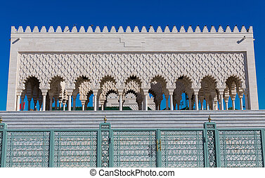 Mausoleum of Mohammed V in Rabat - Detailed view of...