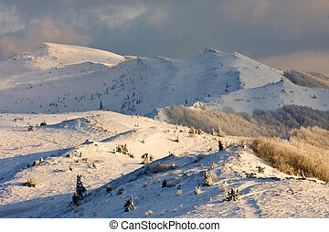 Winter in Bieszczady, Poland