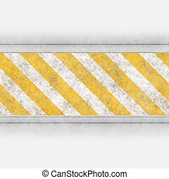 hazard stripes steel