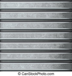 corrugated steel - This corrugated metal building material...