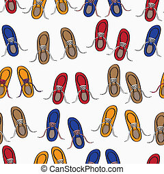 Colourful background pattern of shoes