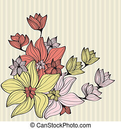 Vintage flowers in muted shades - Beautiful design...