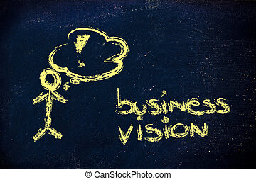 funny man confident about business mission/vision
