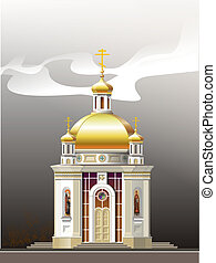 church - The raster image on which the beautiful church is...