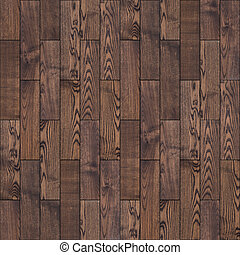 Brown Wood Parquet Floor Seamless Texture - Brown Wood...