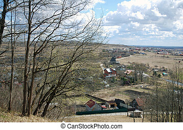 Village landscape - The landscape of the Russian village...