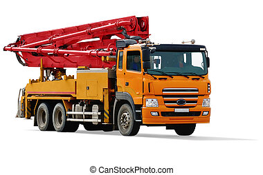 concrete pump car - construction equipment. concrete pump...