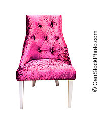 pink sofa isolated with clipping path