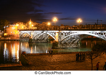 Bridge of Triana - The Bridge of Triana over the river...