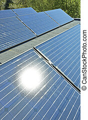 Solar Panels on a Building Roof