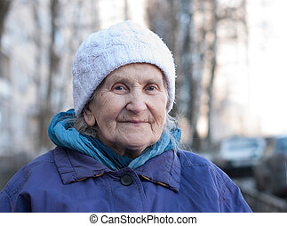 old-timer - oldster grandmother