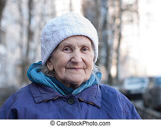 old-timer - oldster grandmother