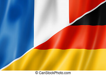 France and Germany flag - Mixed France and Germany flag,...