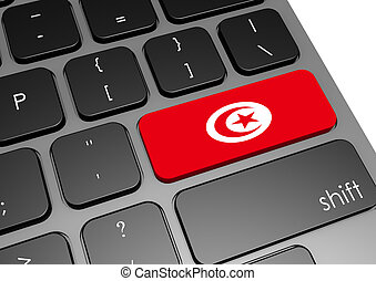 Tunisia - Rendered artwork with white background