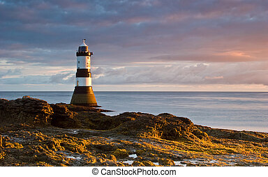 Lighthouse at Sunrise - The lighthouse at Black Point on the...