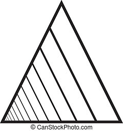 Abstract triangle tunnel left hand descending perspective