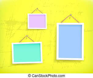 White frames on the wall