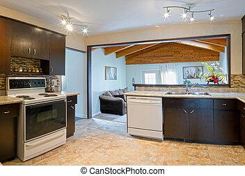 Interior design of modern kitchen