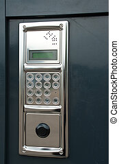 Modern intercom for entry in a house - Close-up on a...