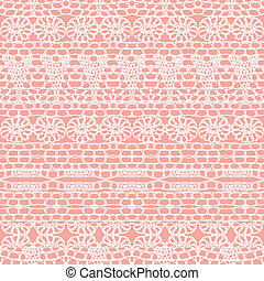 Lace seamless crochet pattern Vector background