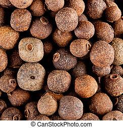 Allspice - Food Spice Background of allspice