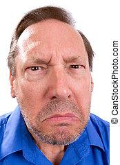 Angry Senior Adult